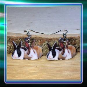 Jewelry - Acrylic Bunnies Earrings